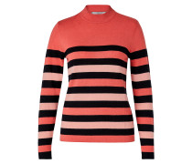 Pullover orange / puder / schwarz