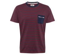T-Shirt dunkelblau / burgunder