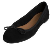 Wildleder-Ballerinas schwarz