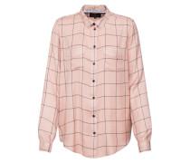 Bluse anthrazit / rosa