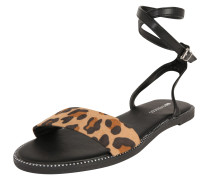 Sandale braun / schwarz