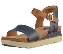 Sandalen dunkelblau / braun