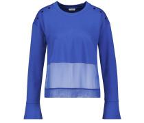 Shirt royalblau / weiß