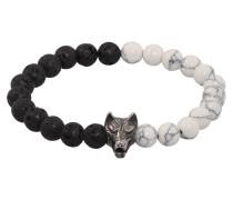 Armband 'Wolfsblut' schwarz / weiß