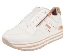 Sneaker gold / weiß / rosé