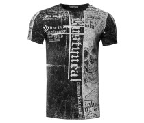 T-Shirt mit Skull All Over Print