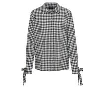 Bluse ' Vichy Gaufre' schwarz / offwhite