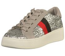 Sneaker rot / schwarz / silber
