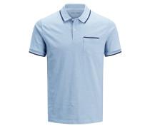 Poloshirt hellblau / dunkelblau