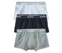 Boxer (3 Stck.) hellgrau / schwarz / weiß