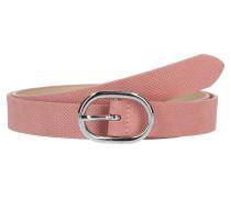 Ledergürtel mit feiner Perforation rosa
