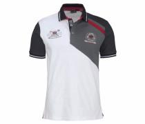 Poloshirt grau / rot / schwarz / weiß