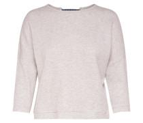 Detailliertes Sweatshirt creme