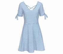 Strandkleid hellblau / weiß