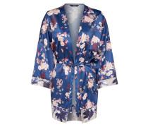 Kimono 'blume' dunkelblau / mischfarben