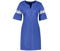 Kleid royalblau / weiß