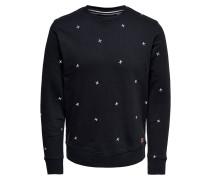 Sweatshirt navy / weiß