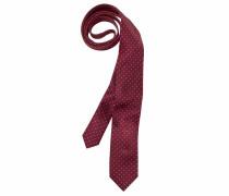 Krawatte weinrot / weiß