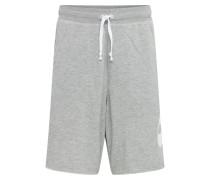 Shorts graumeliert / weiß