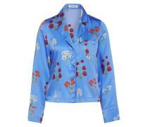 Bluse 'Kellie' creme / royalblau / feuerrot