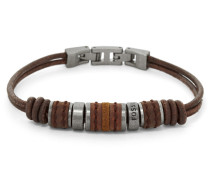 Armband braun / silber