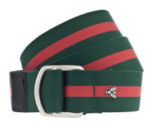 Gürtel 'Streifen 35cm' grün / rot