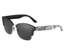 Sonnenbrille schwarz / weiß