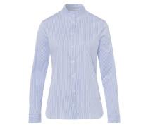 Bluse 'Style Val' royalblau / weiß