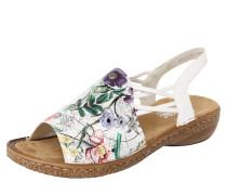 Sandale mischfarben / silber / weiß