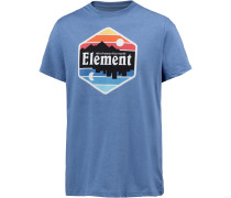 'dusk' T-Shirt himmelblau / mischfarben
