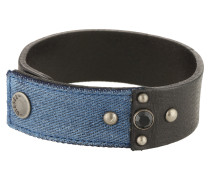 Armband 'a-Keepler' blue denim / schwarz