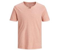 Split-Neck T-Shirt altrosa