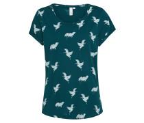 T-Shirt grün / mischfarben