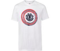 T-Shirt 'Iris' hellrot / weiß