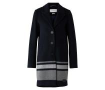 Mantel nachtblau / grau