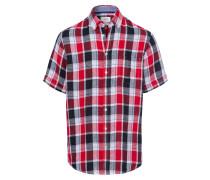 Hemd nachtblau / rot / weiß