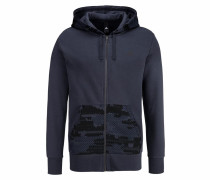 Kapuzensweatjacke 'essentials Camo Full-Zip Hood Fleece'