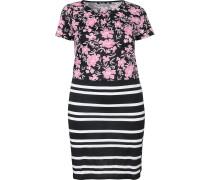 Jerseykleid rosé / schwarz / weiß