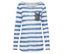 Lockeres Shirt himmelblau / weißmeliert