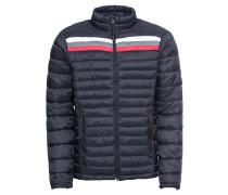 Jacke 'Outerwear' dunkelblau / rot / weiß