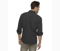 Hemd schwarzmeliert