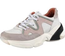 Sneakers grau / rosé / schwarz / weiß