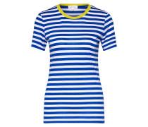 T-Shirt 'Lidaa' blau / weiß