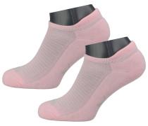 Sneakersocken hellgrau / rosa