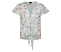 Bluse '18.05 WW Printed Lace Button Thru TIE Front P38'