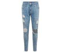 Jeans 'leo' blau