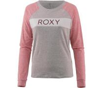Langarmshirt Damen grau / rosé