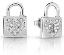 Ohrringe 'heart Lock' silber