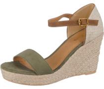 Sandalen beige / oliv
