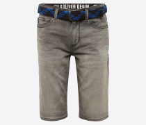 Jeans-Bermuda grey denim